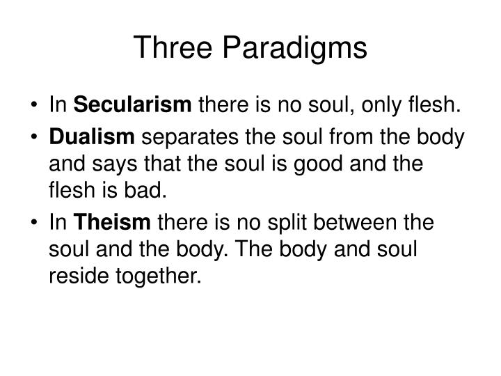 Three Paradigms