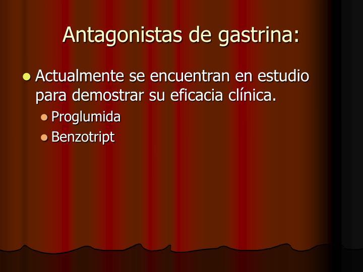 Antagonistas de gastrina: