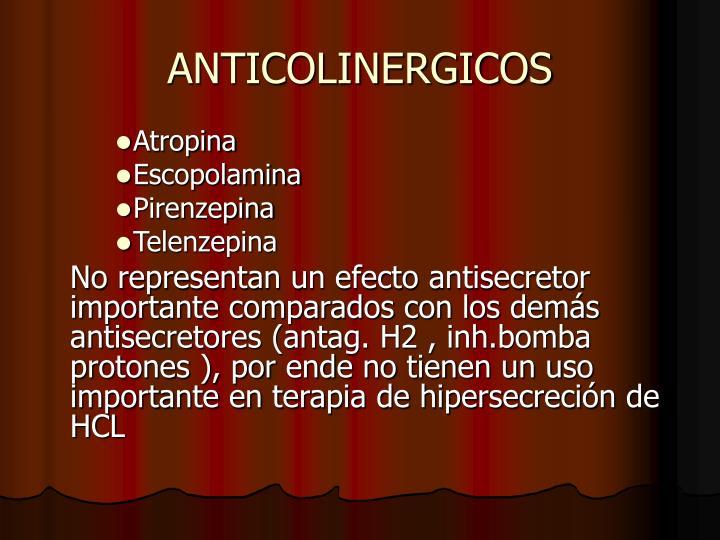 ANTICOLINERGICOS
