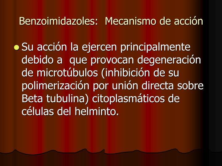 Benzoimidazoles:  Mecanismo de acción
