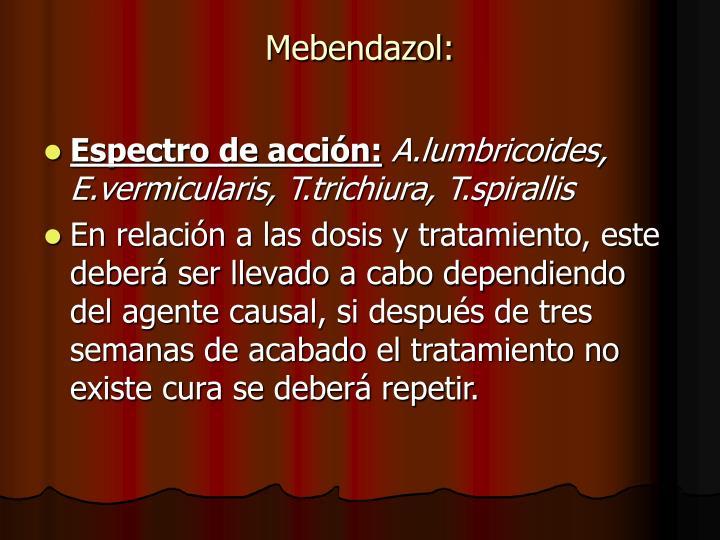 Mebendazol: