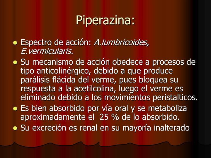 Piperazina: