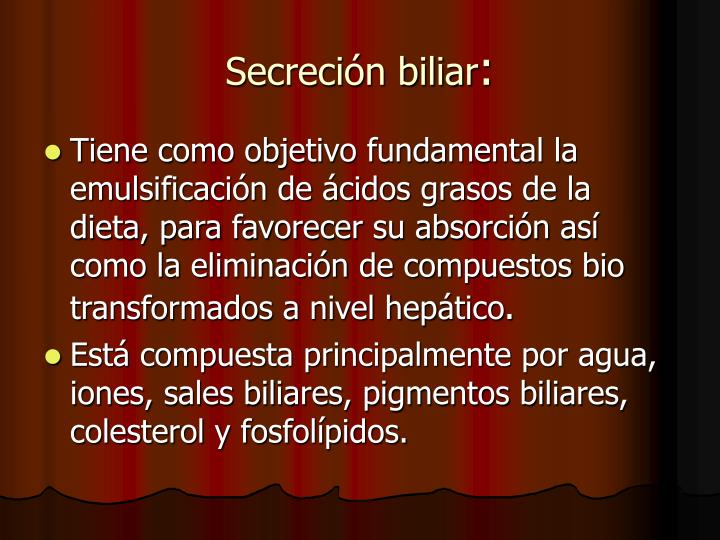 Secreción biliar