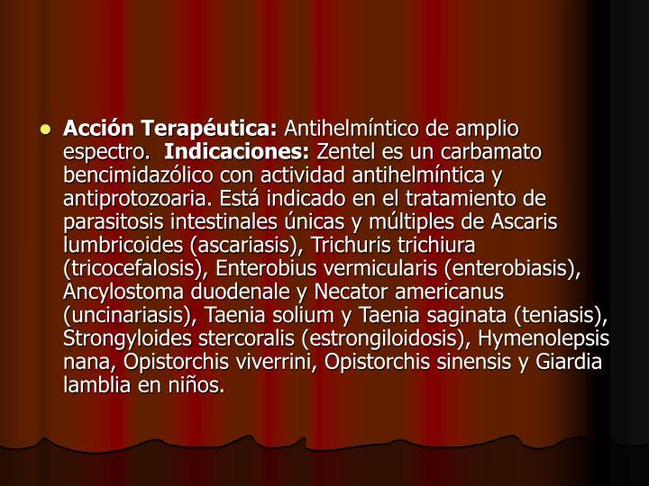 Acción Terapéutica: