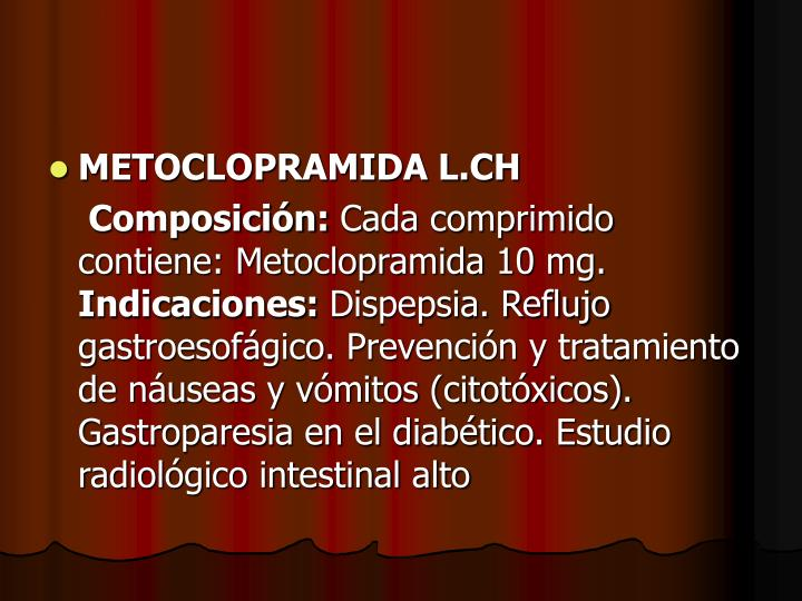 METOCLOPRAMIDA L.CH