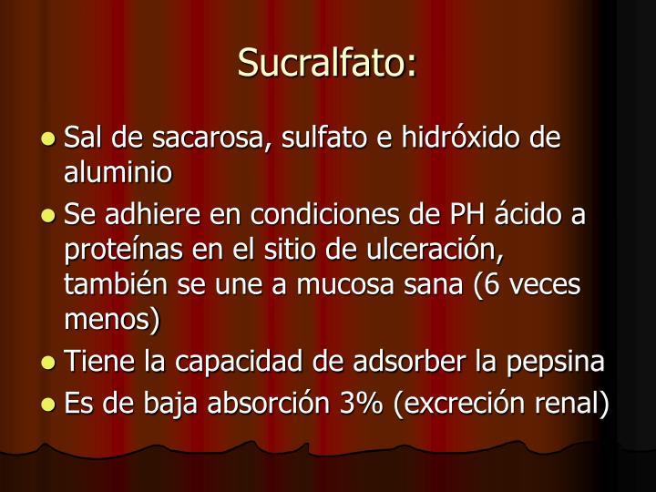 Sucralfato: