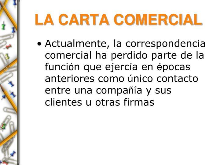 LA CARTA COMERCIAL