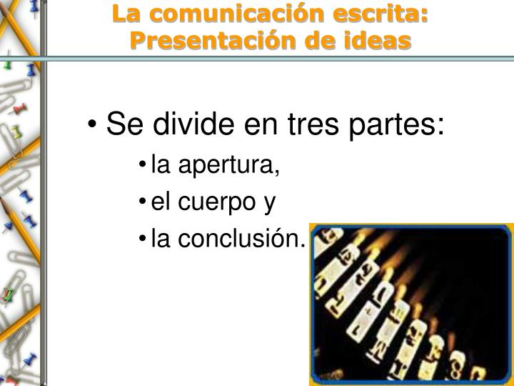La comunicación escrita