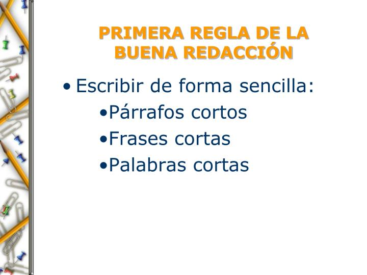 PRIMERA REGLA DE