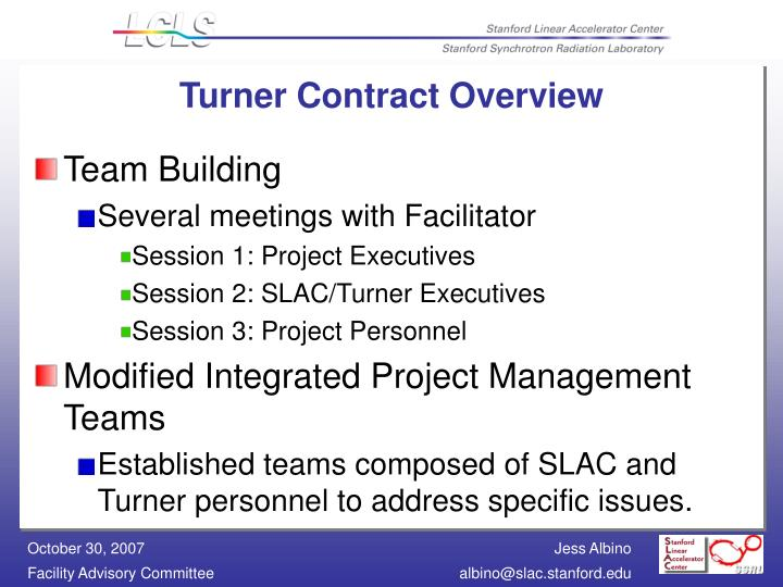 Turner contract overview1
