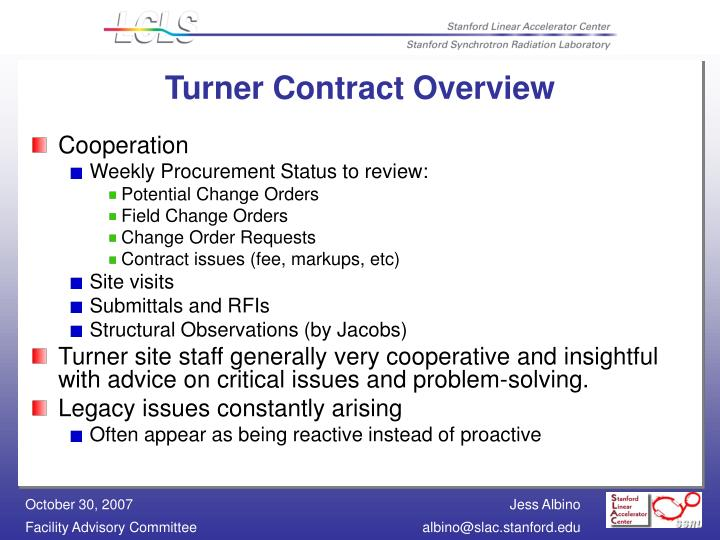 Turner Contract Overview