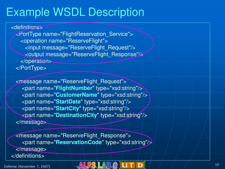 Example WSDL Description