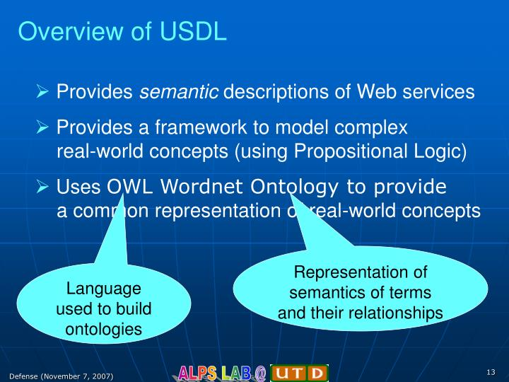 Overview of USDL