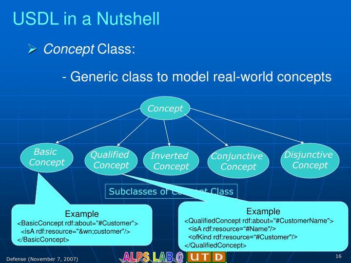 USDL in a Nutshell