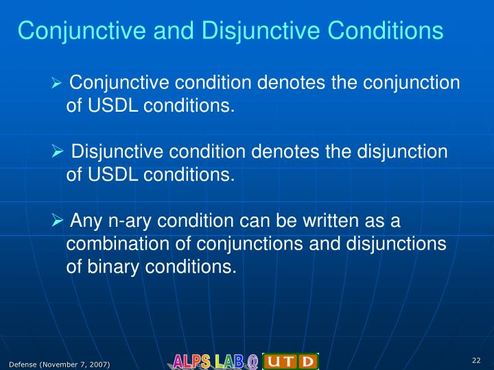 Conjunctive and Disjunctive Conditions