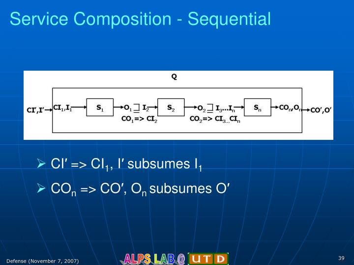 Service Composition - Sequential
