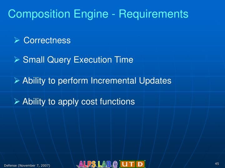 Composition Engine - Requirements