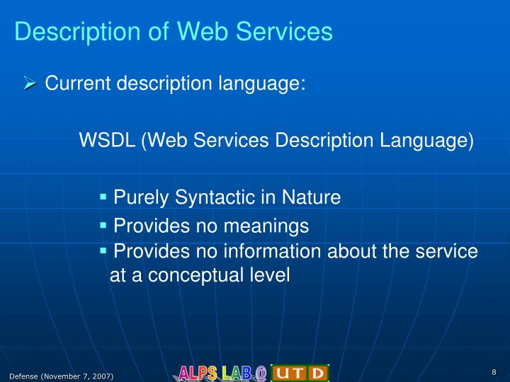 Description of Web Services