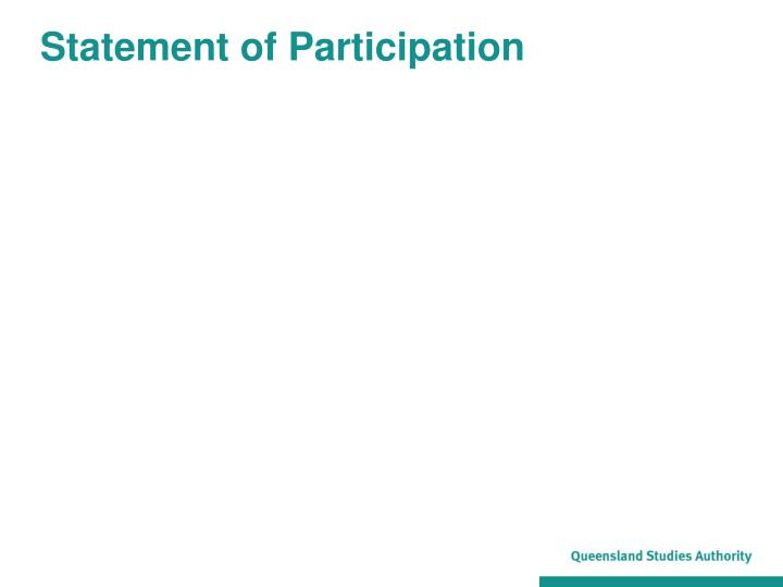 Statement of Participation