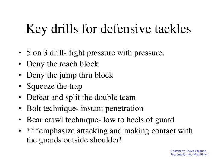 Key drills for defensive tackles