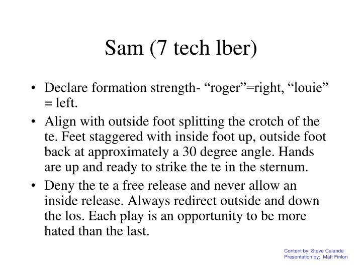 Sam (7 tech lber)