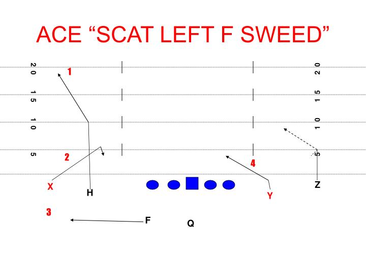 "ACE ""SCAT LEFT F SWEED"""