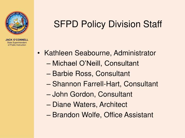 SFPD Policy Division Staff