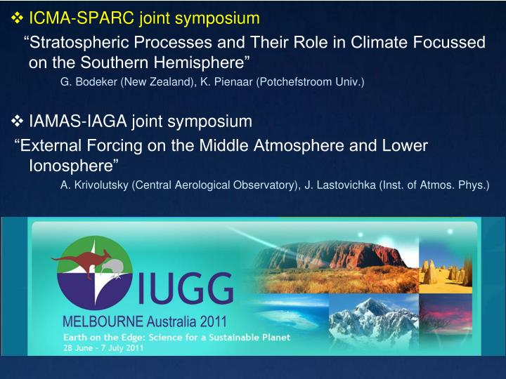 ICMA-SPARC joint symposium