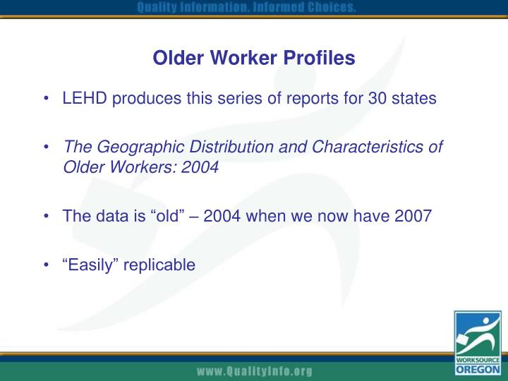 Older Worker Profiles