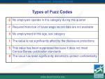 types of fuzz codes