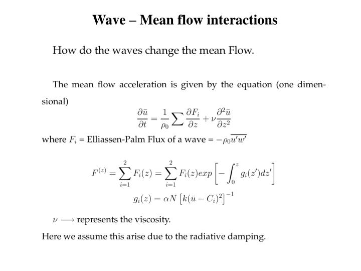 Wave – Mean flow interactions