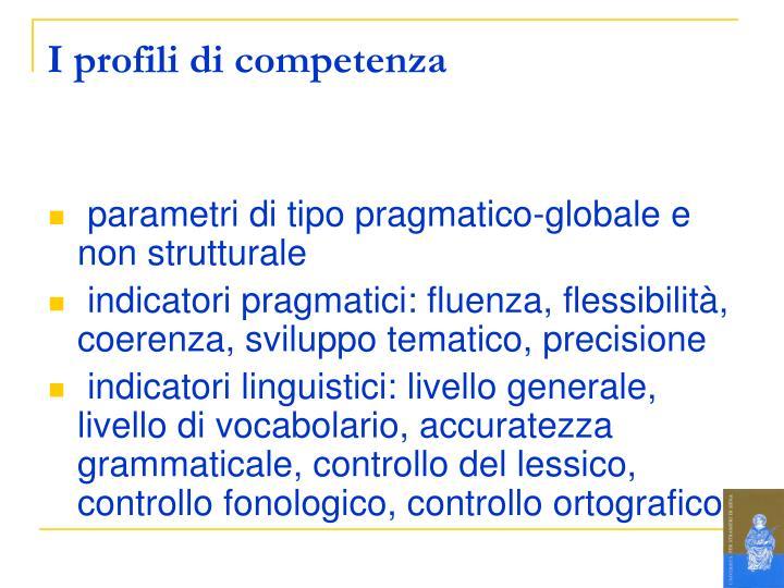 I profili di competenza