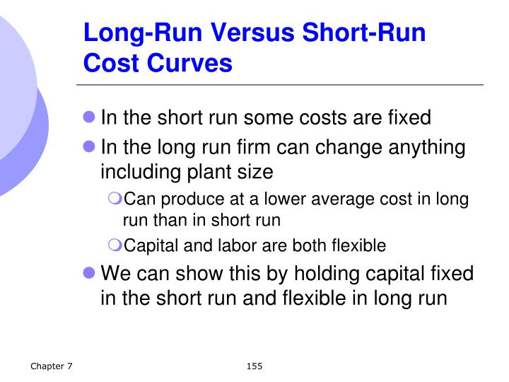 Long-Run Versus Short-Run Cost Curves