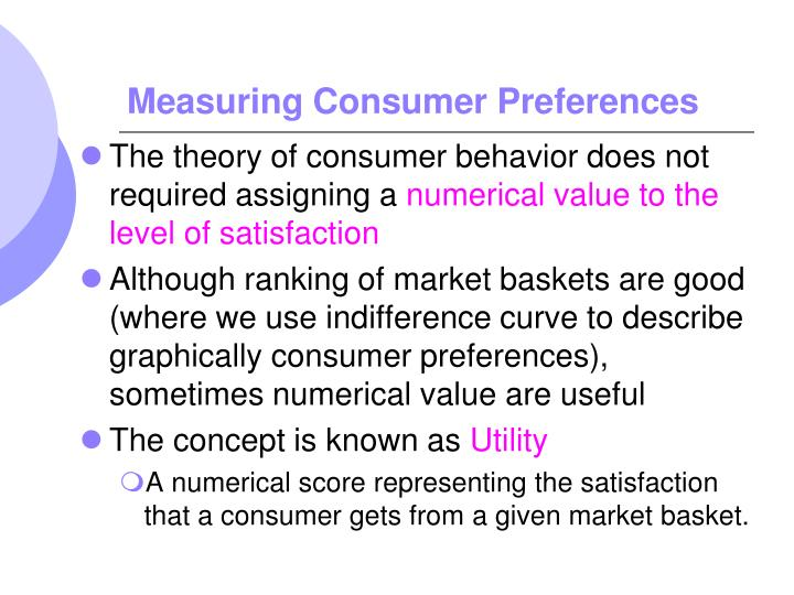 Measuring Consumer Preferences