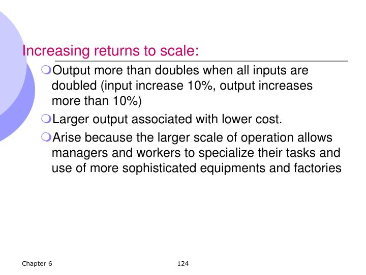 Increasing returns to scale:
