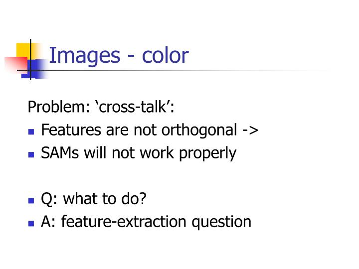 Problem: 'cross-talk':