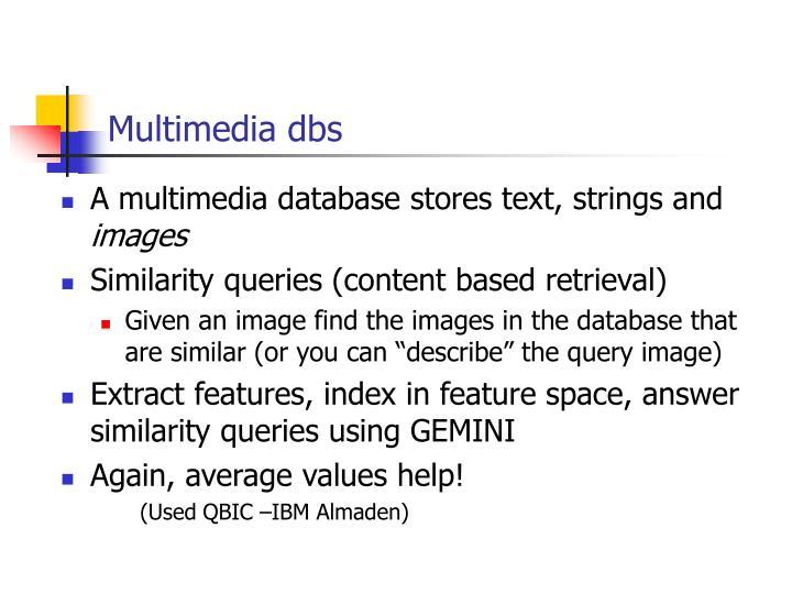 Multimedia dbs