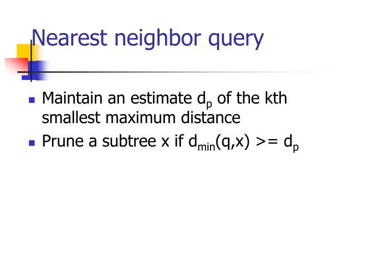 Nearest neighbor query
