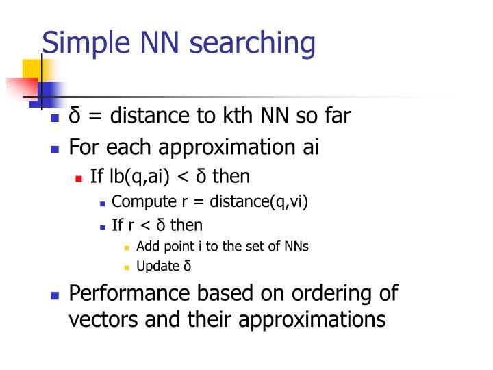 Simple NN searching