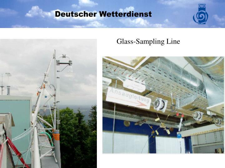 Glass-Sampling Line