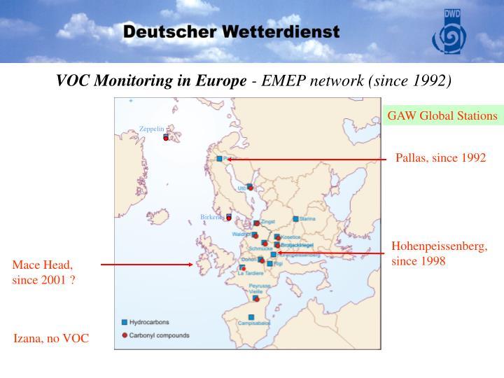 VOC Monitoring in Europe