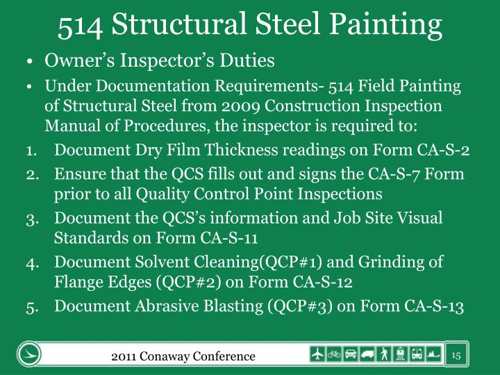 514 Structural Steel Painting