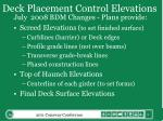 deck placement control elevations