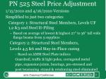pn 525 steel price adjustment1
