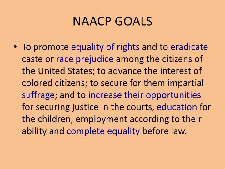 NAACP GOALS