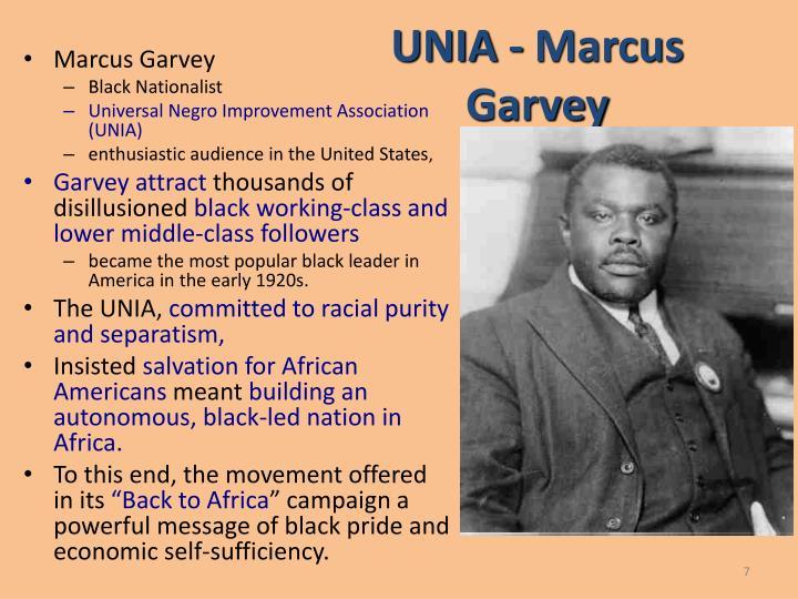 UNIA - Marcus Garvey