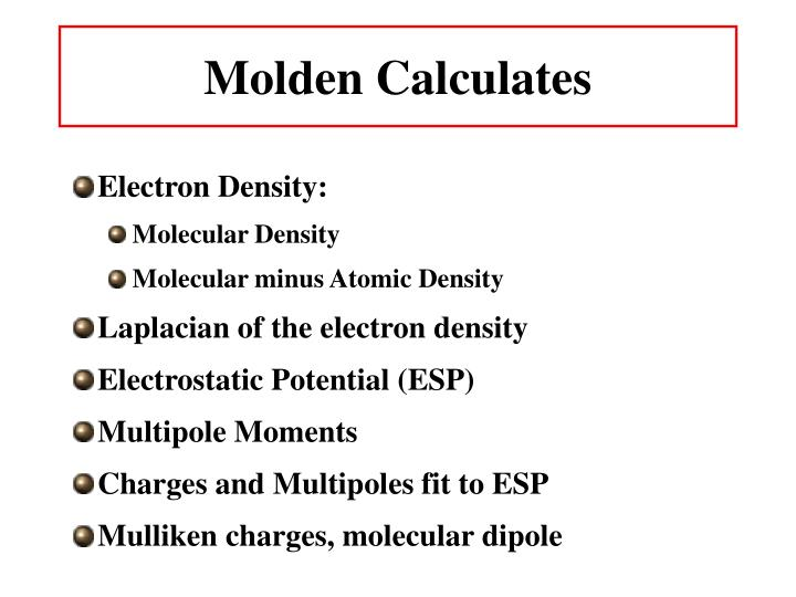 Molden Calculates