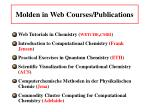 molden in web courses publications