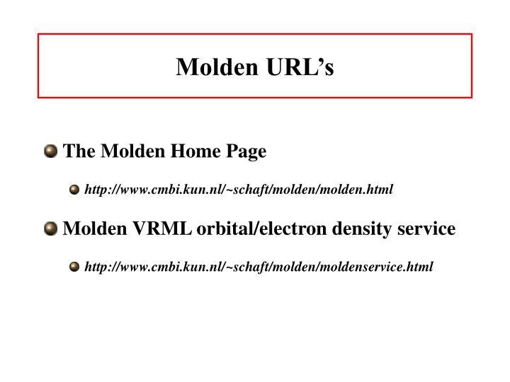 Molden URL's