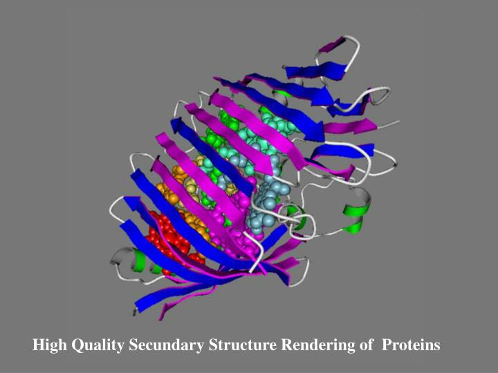 High Quality Secundary Structure Rendering of  Proteins